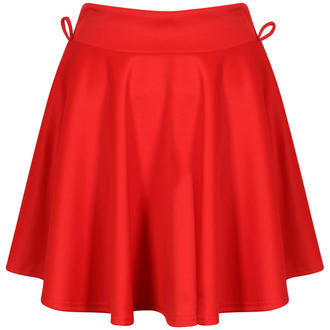 View Item Red Belted Skater Skirt